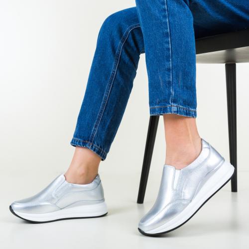 Pantofi Casual Gemma Argintii - Incaltaminte casual femei - Pantofi casual