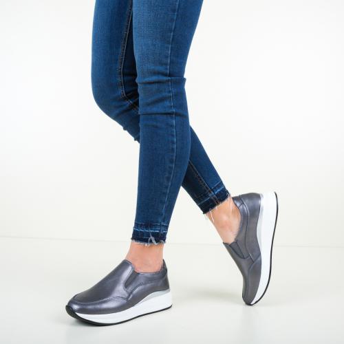 Pantofi Casual Gemma Gri - Incaltaminte casual femei - Pantofi casual