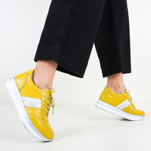 Pantofi Casual Good Galbeni - Incaltaminte casual femei - Pantofi casual