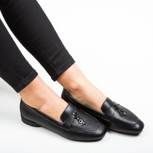 Pantofi Casual Locker Negri - Incaltaminte casual femei - Casual