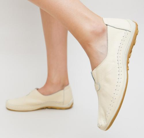 Pantofi Casual Mifi Bej - Incaltaminte casual femei - Pantofi casual