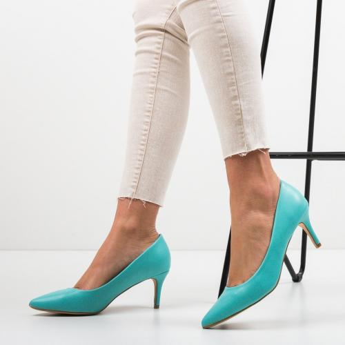 Pantofi Cheloo Turcoaz - Pantofi eleganti - Pantofi cu toc subtire