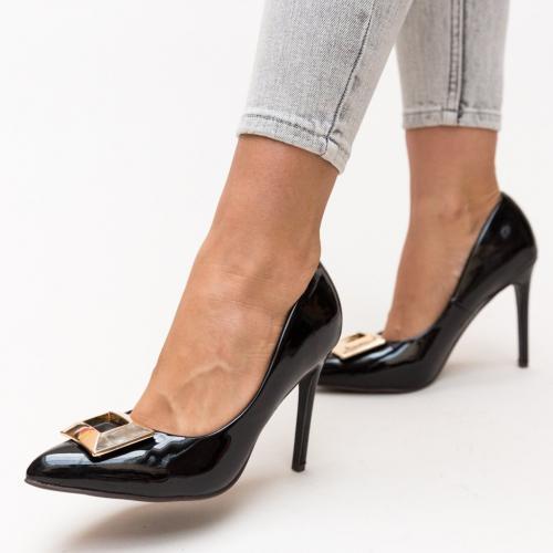 Pantofi Combs Negri - Pantofi eleganti - Pantofi cu toc subtire