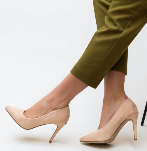 Pantofi Cruze Nude - Pantofi eleganti - Pantofi cu toc subtire
