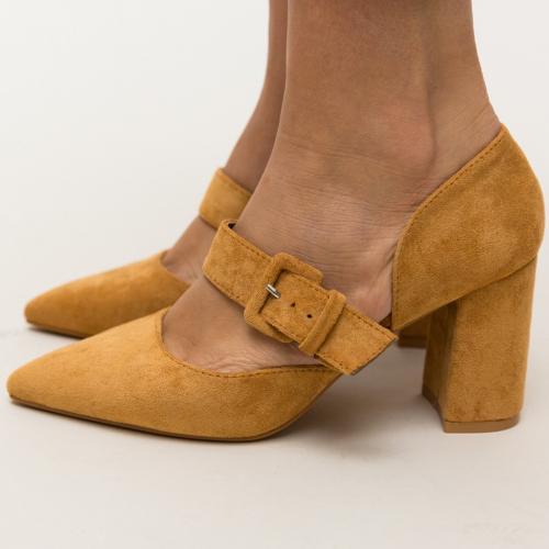 Pantofi Dionne Camel - Pantofi eleganti - Pantofi cu toc gros