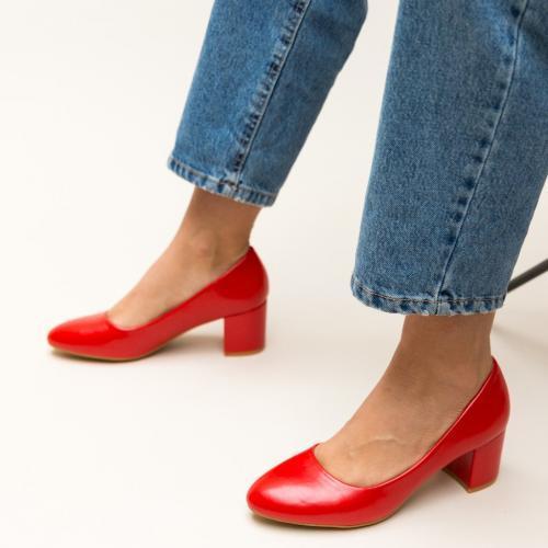 Pantofi Hummer Rosii - Pantofi eleganti - Pantofi cu toc gros