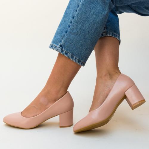 Pantofi Hummer Roz - Pantofi eleganti - Pantofi cu toc gros