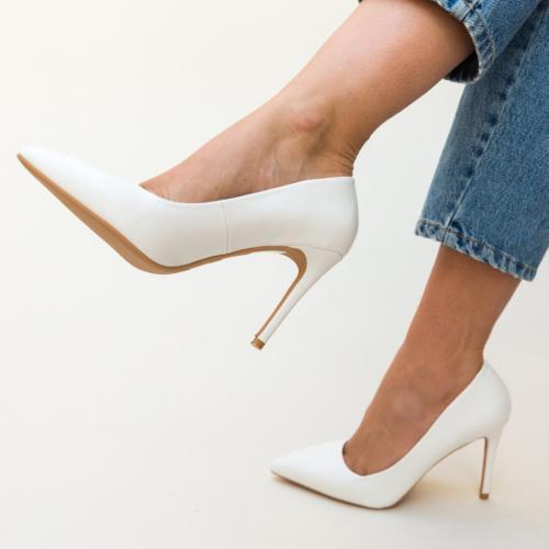 Pantofi Jaidon Albi - Pantofi eleganti - Pantofi cu toc subtire