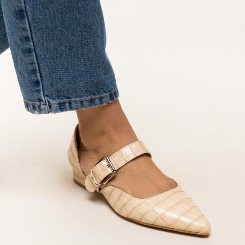 Pantofi Jakub Bej 2 - Pantofi eleganti - Pantofi cu toc gros