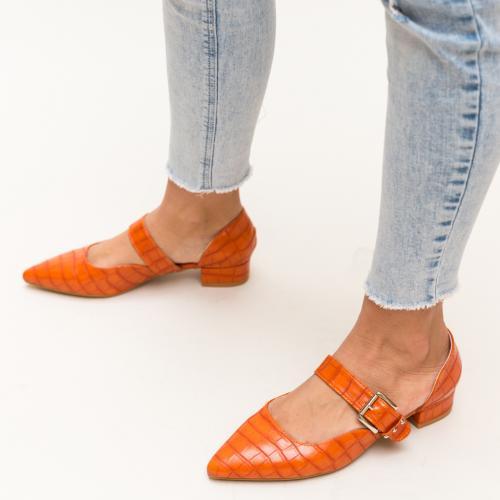 Pantofi Jakub Portocalii - Pantofi eleganti - Pantofi cu toc gros