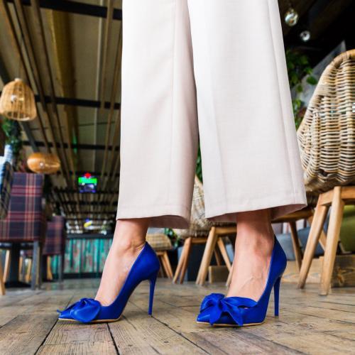 Pantofi Juanita Albastri - Pantofi eleganti -