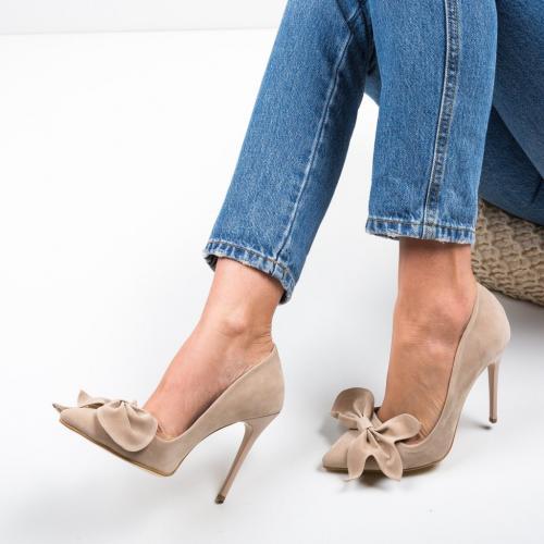 Pantofi Juanita Bej 2 - Pantofi eleganti -