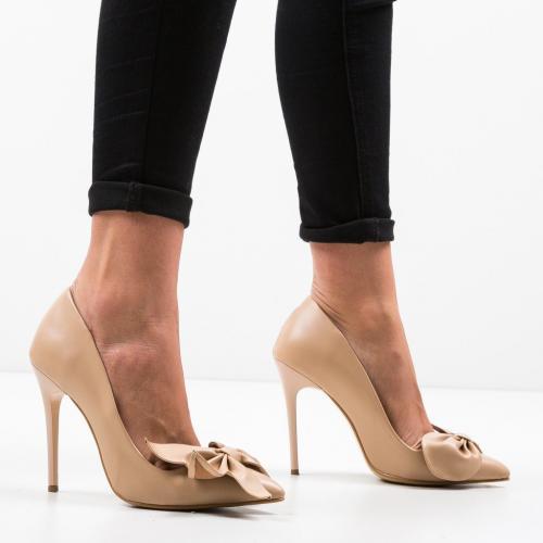 Pantofi Juanita Bej 3 - Pantofi eleganti -