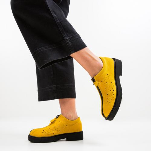 Pantofi Lusac Galbeni - Incaltaminte casual femei - Casual