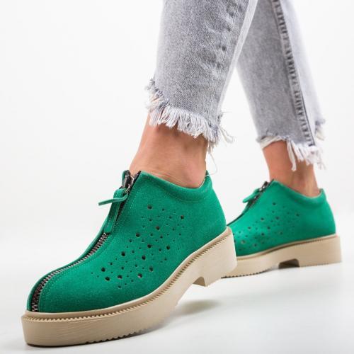 Pantofi Lusac Verzi - Incaltaminte casual femei - Casual