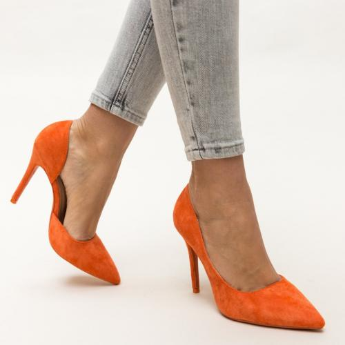 Pantofi Moses Portocalii - Pantofi eleganti - Pantofi cu toc subtire