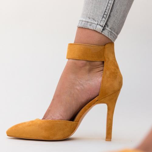 Pantofi Ravlin Camel - Pantofi eleganti - Pantofi cu toc subtire