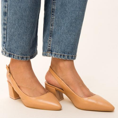 Pantofi Roadster Camel - Pantofi eleganti - Pantofi cu toc gros