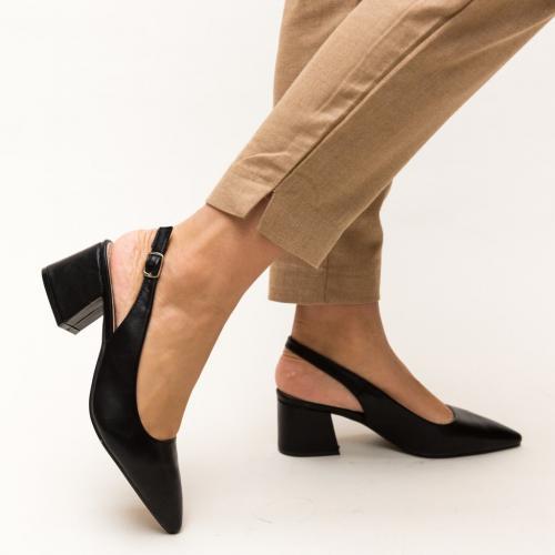 Pantofi Roadster Negri - Pantofi eleganti - Pantofi cu toc gros