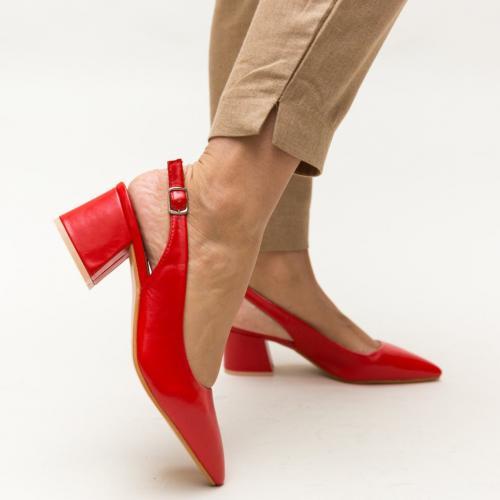 Pantofi Roadster Rosii - Pantofi eleganti - Pantofi cu toc gros