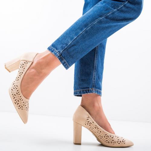 Pantofi Roc Bej - Pantofi eleganti -