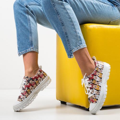 Pantofi Sport Anima Albi - Incaltaminte sport dama -