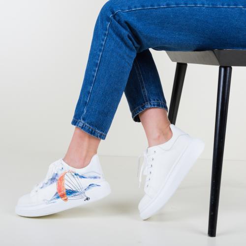 Pantofi Sport Baloon Albi - Incaltaminte sport dama -