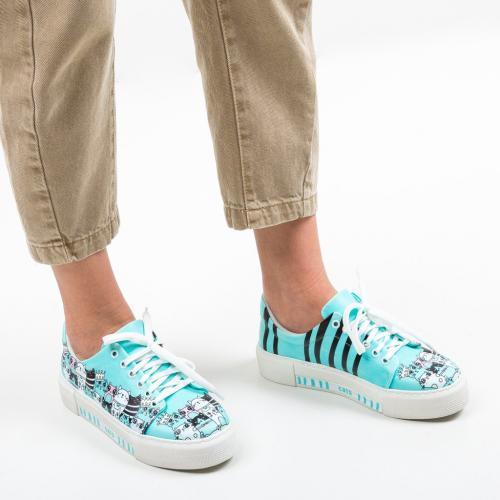 Pantofi Sport Ferzio Albastri - Incaltaminte sport dama -