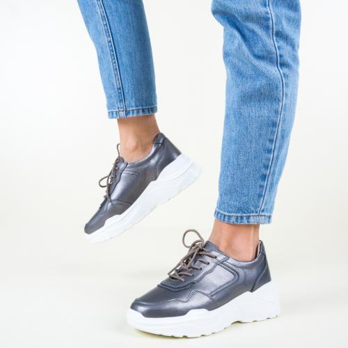 Pantofi Sport Hakim Gri - Incaltaminte sport dama -