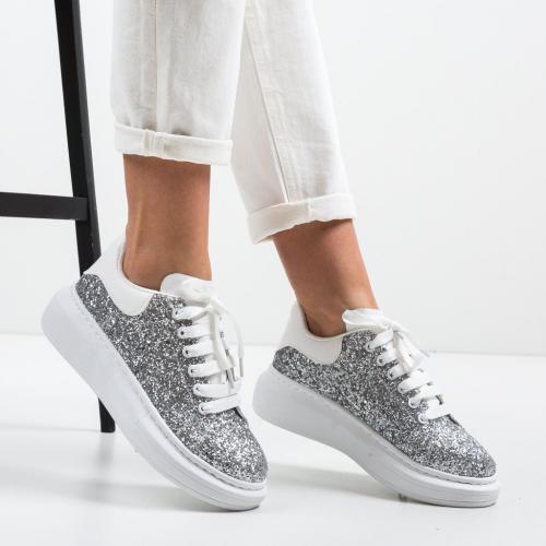 Pantofi Sport Stones Argintii - Incaltaminte sport dama -