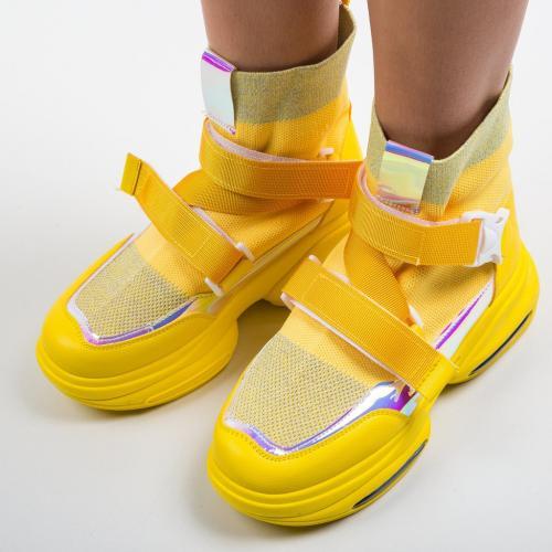 Pantofi Sport Tina Galbeni - Incaltaminte sport dama -