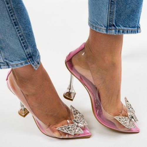 Pantofi Steliz Roz - Pantofi eleganti -
