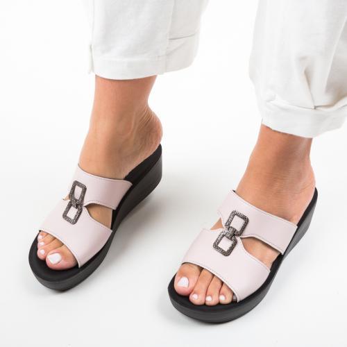 Papuci Benosy Roz - Sandale dama ieftine - Sandale fara toc