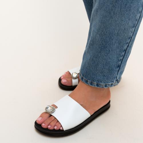 Papuci Blade Albi - Sandale dama ieftine - Slapi
