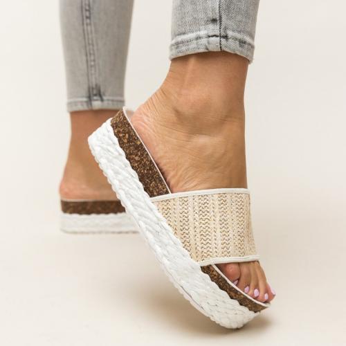 Papuci Jonny Albi - Sandale dama ieftine - Slapi