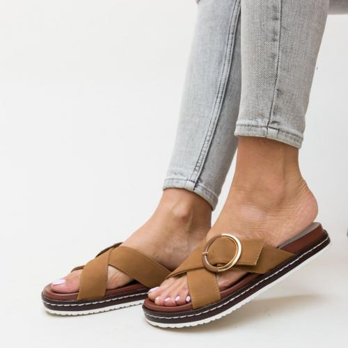 Papuci Morse Maro - Sandale dama ieftine - Slapi