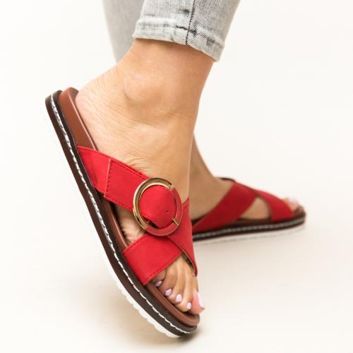 Papuci Morse Rosii - Sandale dama ieftine - Slapi