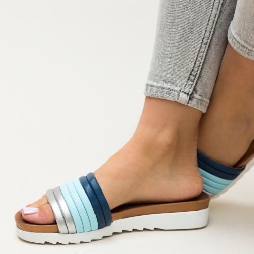 Papuci Ned Bleu - Sandale dama ieftine - Slapi