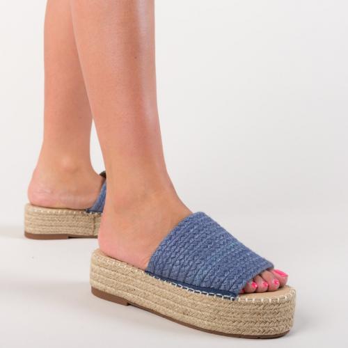 Papuci Prizer Albastri - Sandale dama ieftine - Slapi