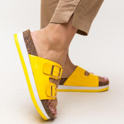 Papuci Rodiam Galbeni - Sandale dama ieftine - Slapi