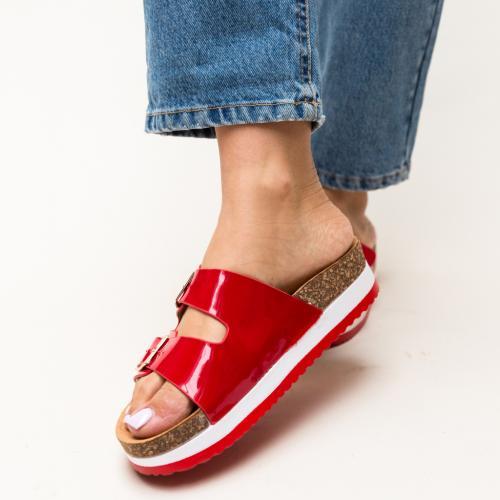 Papuci Rodiam Rosii - Sandale dama ieftine - Slapi