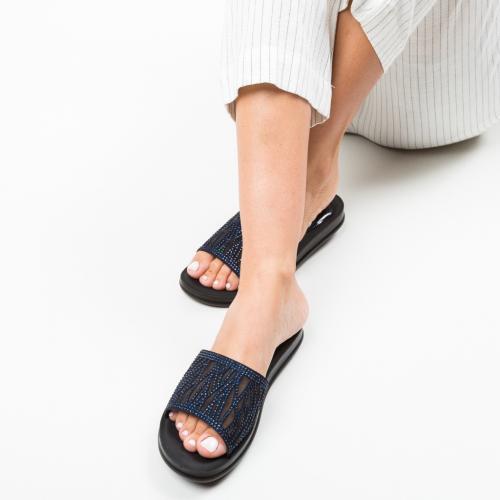 Papuci Trees Bleumarin - Sandale dama ieftine - Sandale fara toc