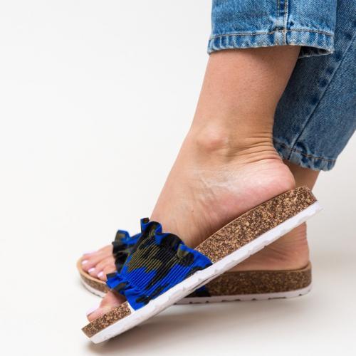 Papuci Vivion Verzi - Sandale dama ieftine - Slapi