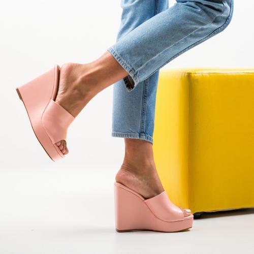 Platforme Arami Roz - Sandale dama ieftine - Sandale fara toc