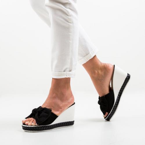 Platforme Casiz Negre - Sandale dama ieftine - Sandale fara toc