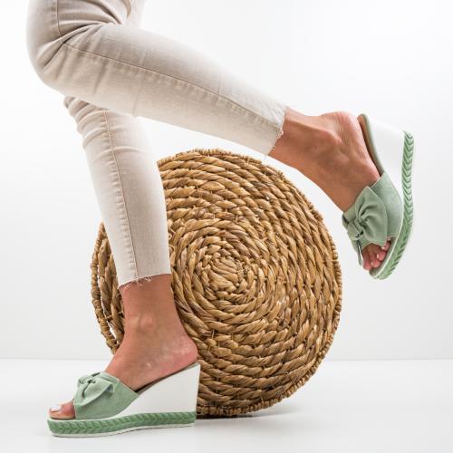 Platforme Casiz Verzi - Sandale dama ieftine - Sandale fara toc