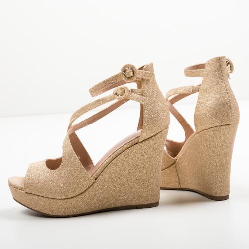 Platforme Dotta Aurii - Sandale dama ieftine - Sandale fara toc