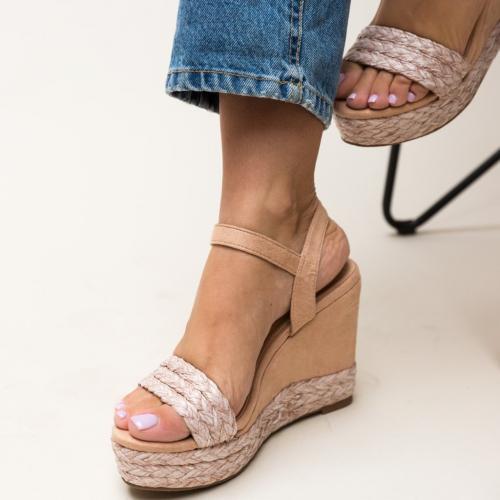 Platforme Imprimon Roz - Sandale dama ieftine - Sandale cu platforma