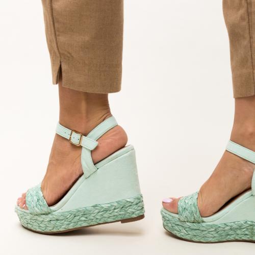 Platforme Imprimon Verzi - Sandale dama ieftine - Sandale cu platforma