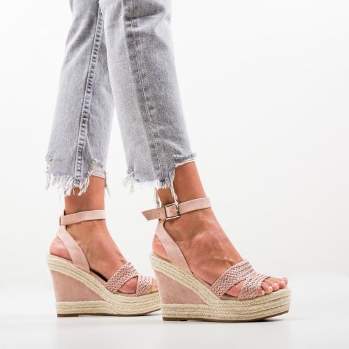 Platforme Jalma Roz - Sandale dama ieftine - Sandale fara toc